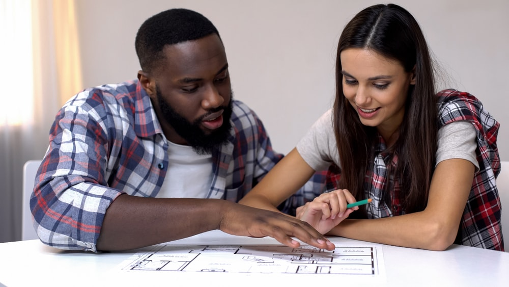 interacial couple planning home upgradees